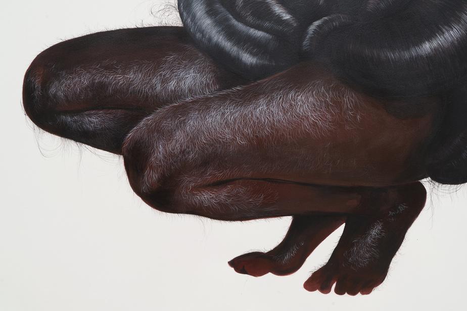 Years of holding your tongue (détail), 2018, Firelei Báez, gouache sur papier, 237,5cm x 129,5cm. Avec l'aimable permission de la Collection Rennie, Vancouver.