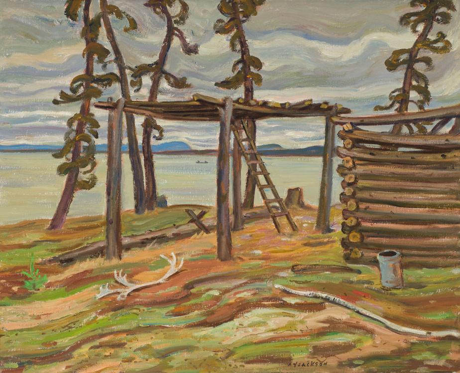 Lockhart River, the Deserted Village, huile sur toile non datée d'Alexander Young (A. Y.) Jackson (1882-1974), 51,4cm sur 63,5cm. Estimée entre 50000 et 70000$.