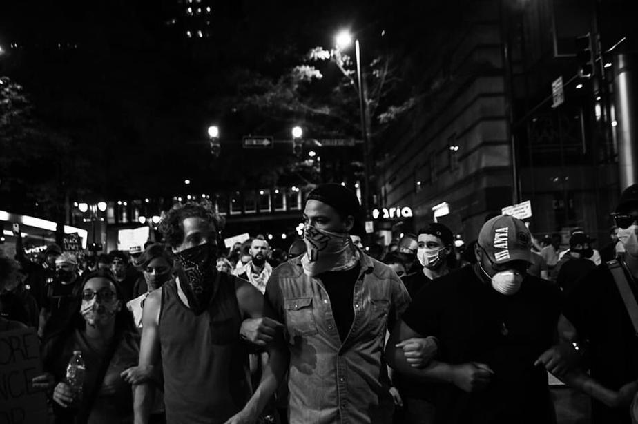 Manifestation à Charlotte, en Caroline du Nord