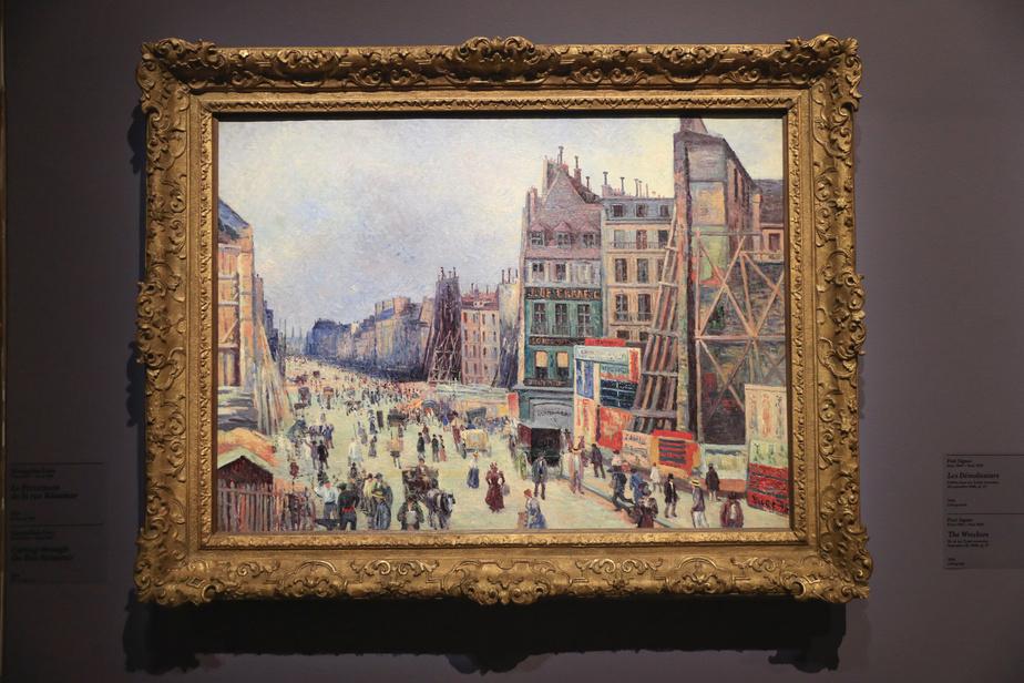 Le Percement de la rue Réaumur, 1896, MaximilienLuce, huile sur toile