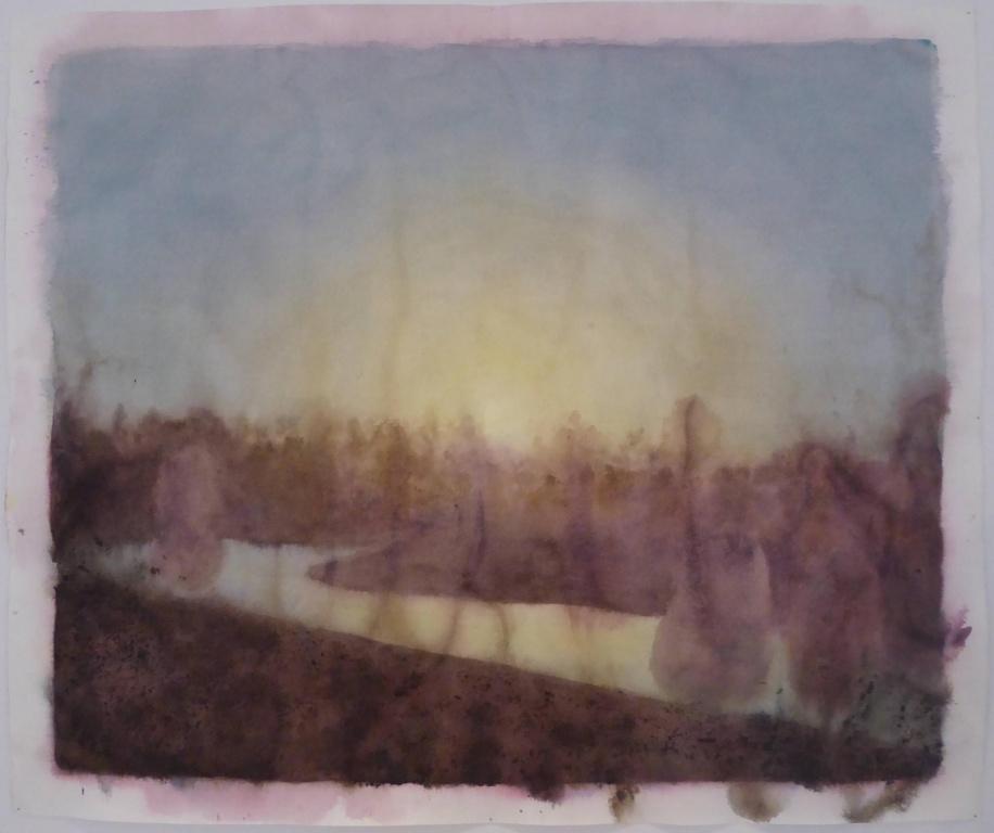Dawn, 2020, Ripley Whiteside, aquarelle et encre de noix, 109,9cmx132,7cm