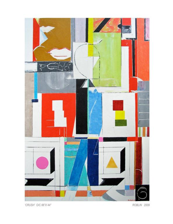 Crush, 2009, Richard Roblin, huile sur toile, 66po x 44po