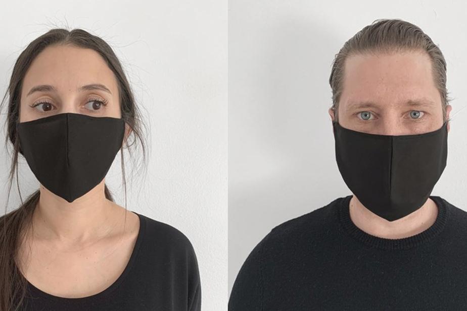 Pour ceux qui préfèrent le noir, Elisa C-Rossow confectionne à la main dans son atelier des masques en coton 100% biologique, doublés avec le même tissu, entièrement biodégradables (sauf les élastiques), en taille S ou M. Pour chaque masque vendu, 5$ seront versés en parts égales à Suicide Action Montréal et au Centre canadien de protection de l'enfance. Prix: 20$