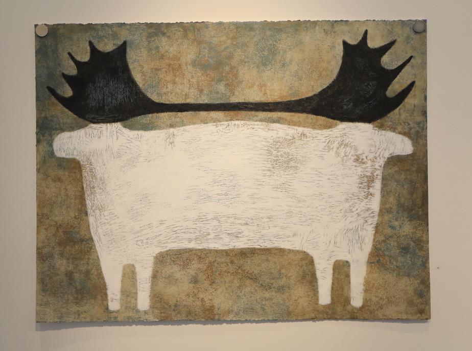 Jumeaux, 2020, Lyne Bastien, acrylique sur papier Stonehenge, 76,8cm x 101,6cm.