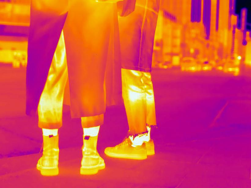 La mode est aux pantalons plutôt courts… qui laissent s'échapper beaucoup de chaleur.