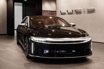 Lucid La Lucid Air aura un prix dedépart moins élevé que la Tesla ModelS