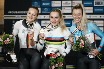 Championnats du monde de cyclisme Kelsey Mitchell décroche le bronze au sprint