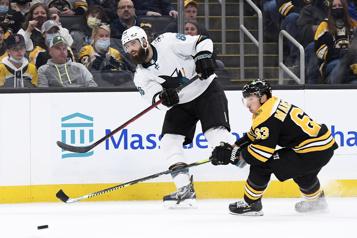 Les Sharks défaits4-3 par les Bruins
