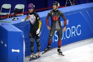 Patinage de vitesse courte piste Pascal Dion remporte le bronze au 1000m
