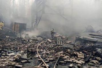 Russie L'incendie d'une usine d'explosifs fait 16morts