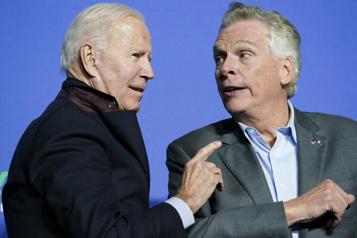 Poste de gouverneur Biden en campagne en Virginie dans une élection à gros enjeux