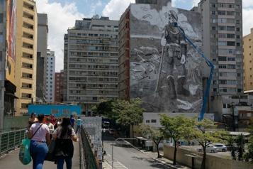 Brésil Les cendres d'Amazonie deviennent une fresque géante