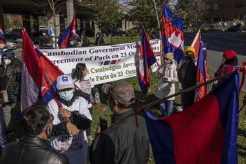Manifestation à Montréal Ottawa prié de défendre la démocratie au Cambodge